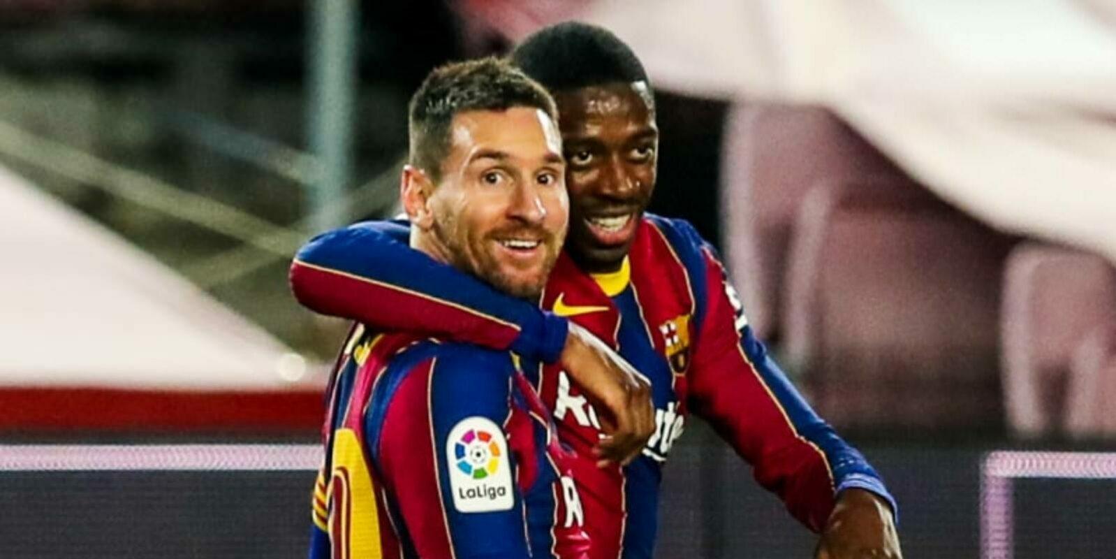 Dembélé i Messi, jugadors del Barça | FC Barcelona