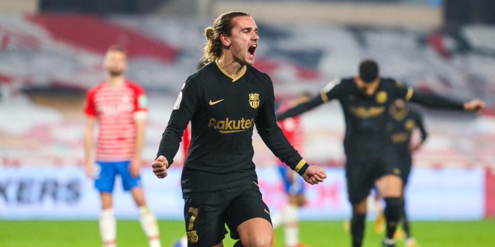 Griezmann celebra un gol al Nuevo los Cármenes | Europa Press