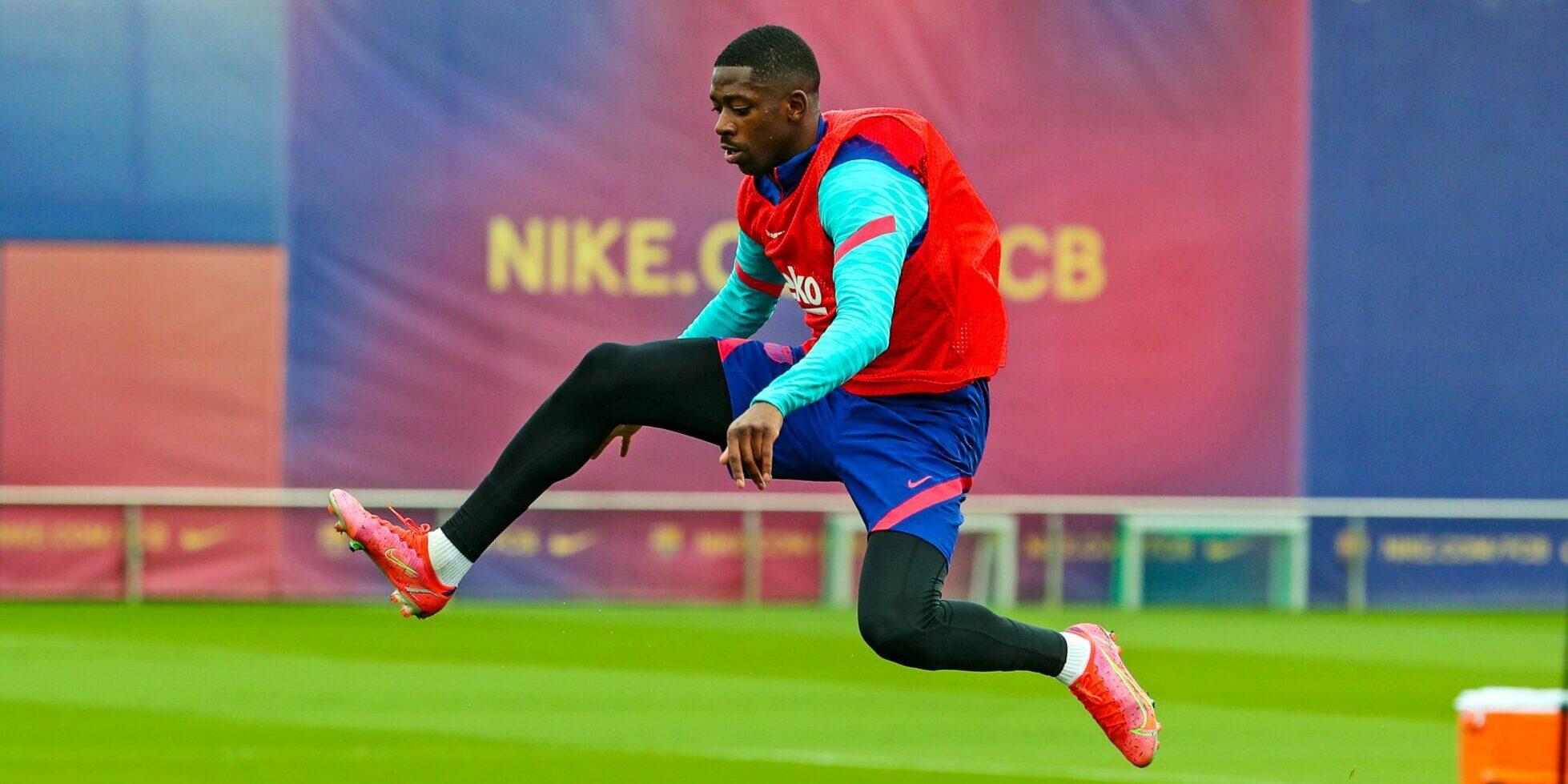 Dembélé, durant un entrenament | FC Barcelona
