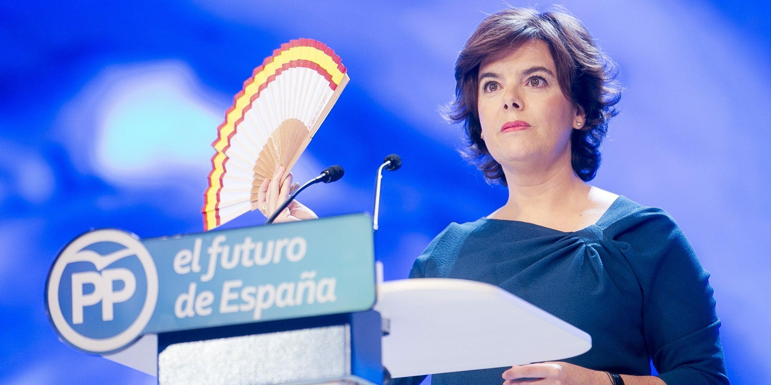 Soraya Saénz de Santamaría, durant un acte del PP | Europa Press