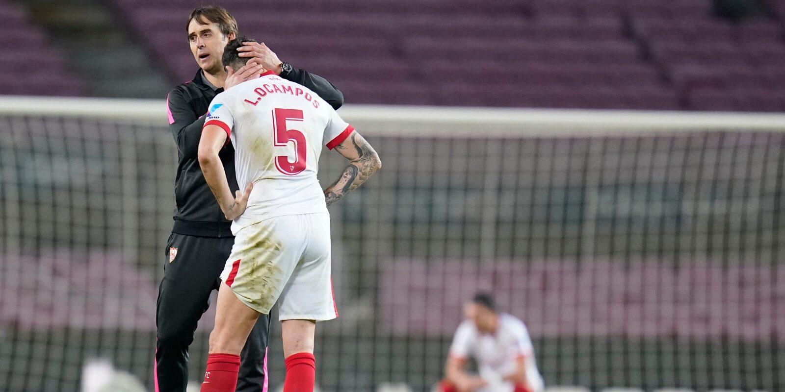 Lopetegui consola Ocampos | Sevilla FC