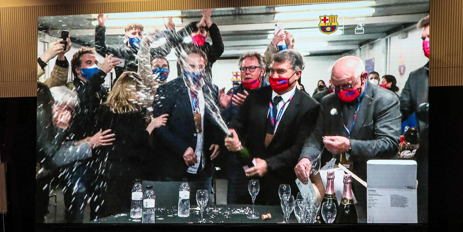 Laporta celebra la seva victòria |Jordi Borràs