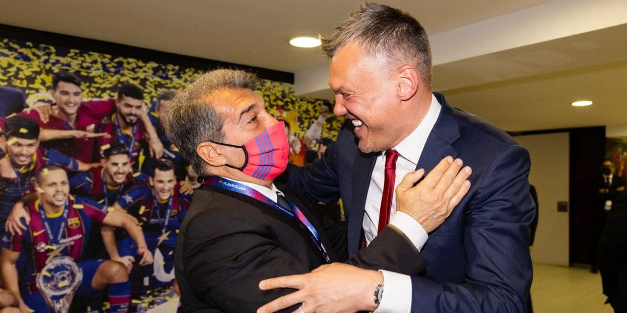 Laporta i Sarunas Jasikevicius | FC Barcelona