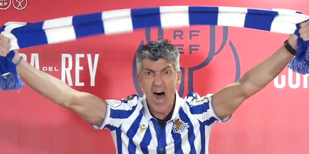 Imanol Alguacil, celebrant la victòria de la Reial Societat | RFEF