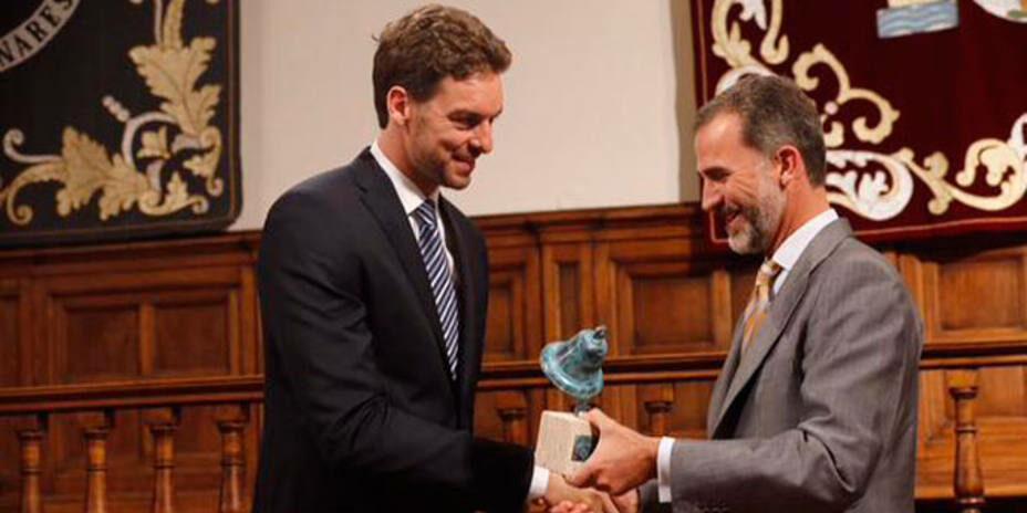 Pau Gasol, amb Felip de Borbó | @CasaReal