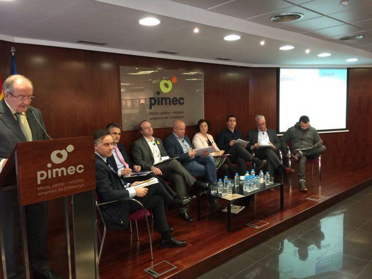 Una imatge del debat de Pimec