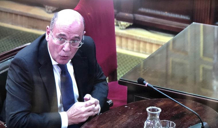 Diego Pérez de los Cobos, durant la seva declaració al Suprem