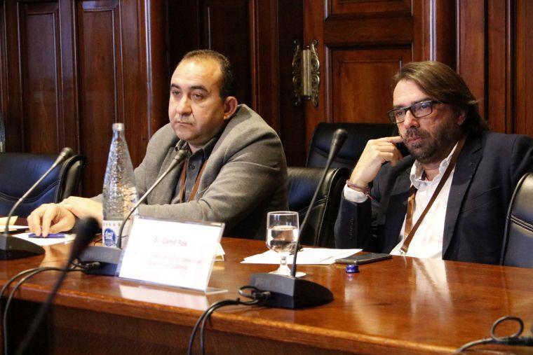 Els secretaris generals de CCOO i UGT, Javier Pacheco i Camil Ros