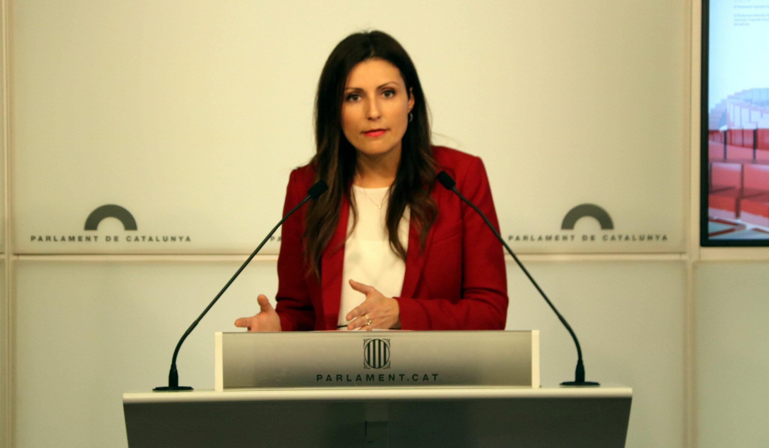Lorena Roldán, número 2 del PP, durant la seva època de portaveu parlamentària de Cs | ACN