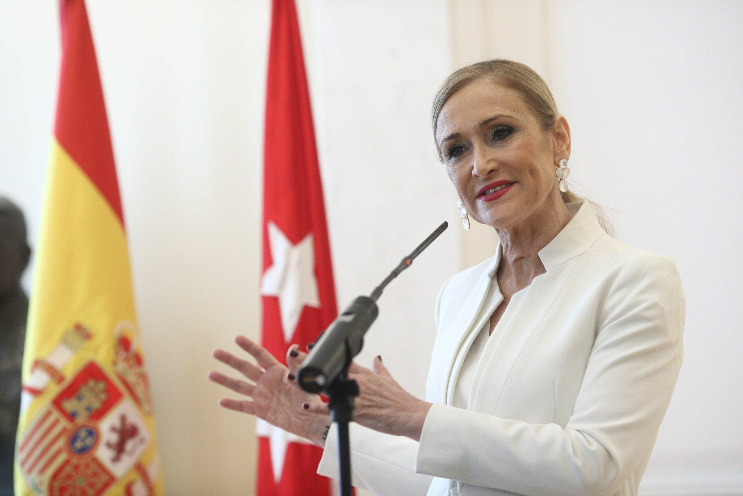 Cristina Cifuentes ofereix una roda de premsa, en una imatge d'arxiu | Europa Press