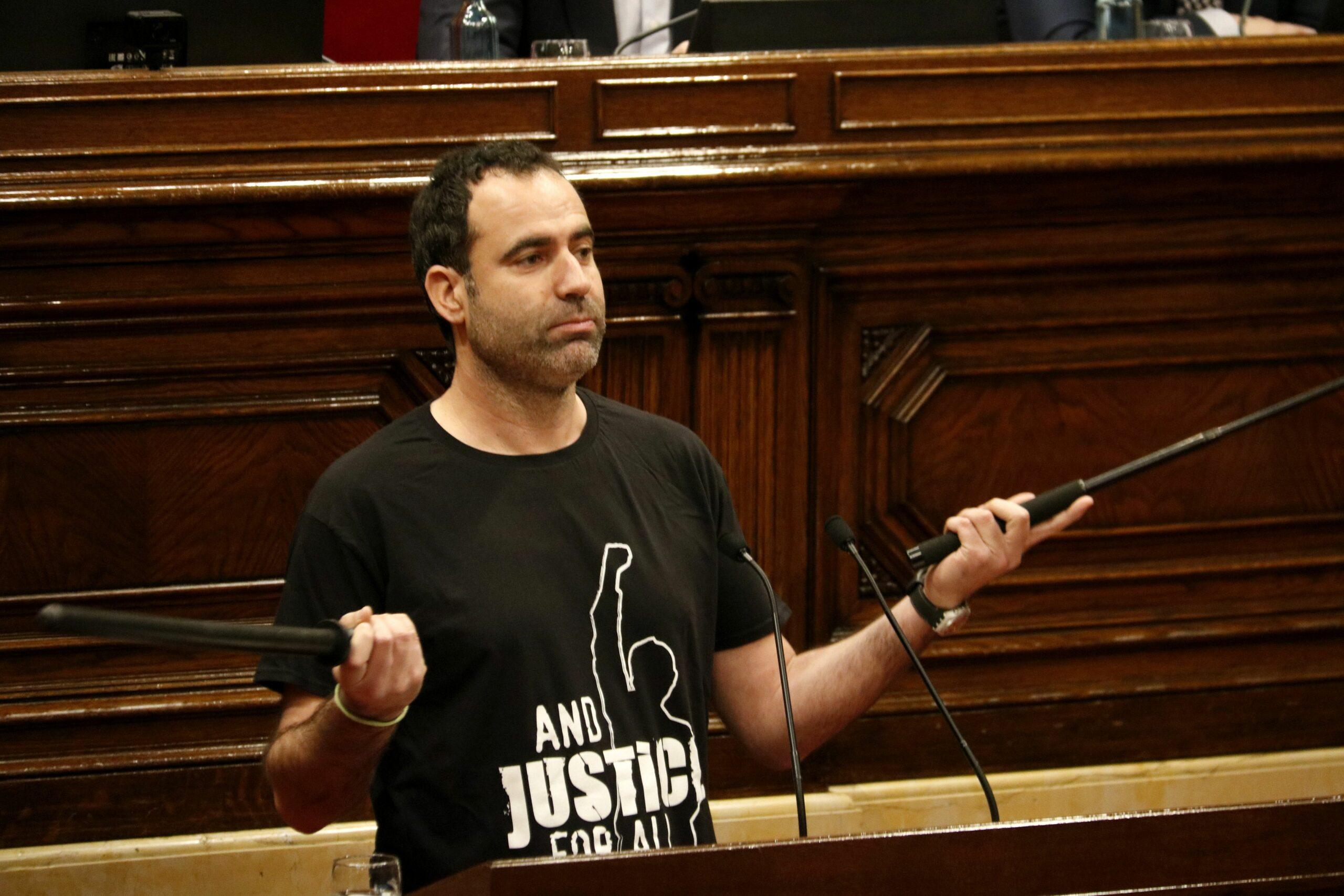 El diputat d'ERC Ferran Civit, al ple del Parlament. ACN