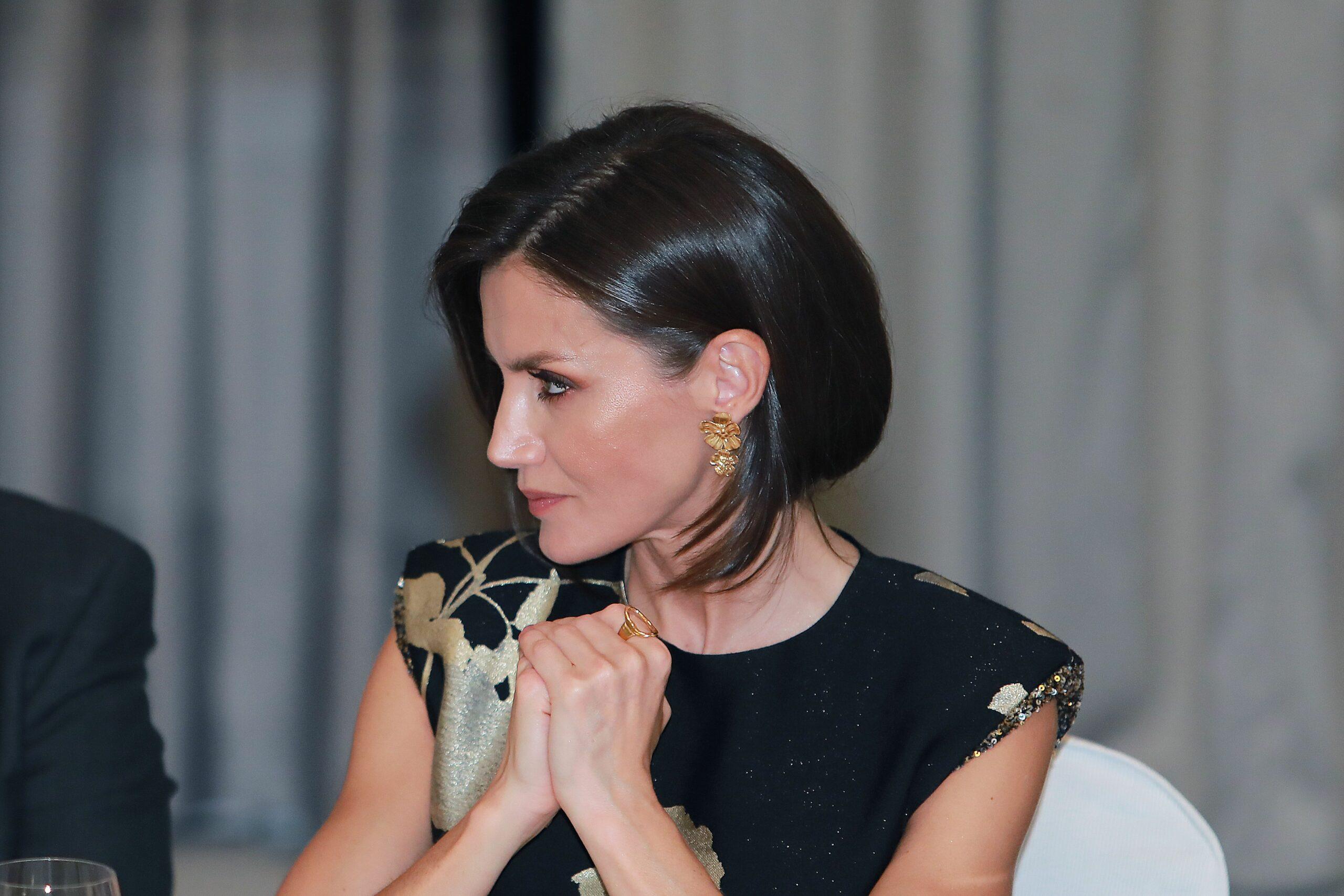 La reina Letícia, durant l'entrega d'un premi   Europa Press