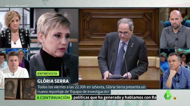 Glòria Serra parla de Catalunya a 'Liarla Pardo'   La Sexta