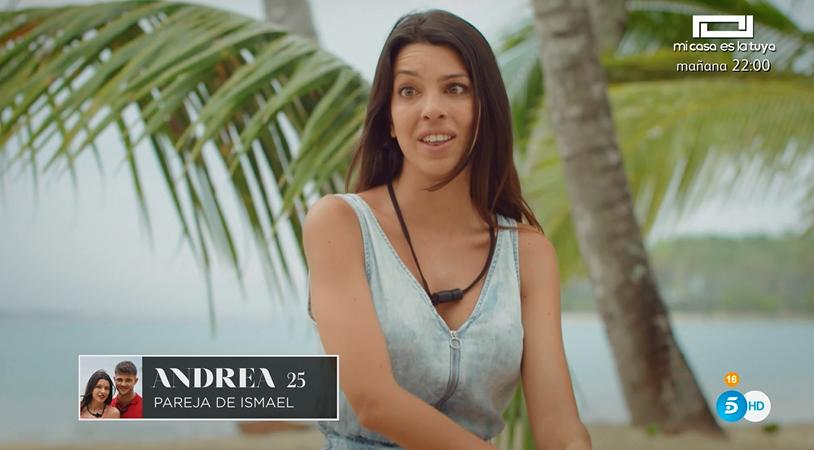 Andrea a 'La isla de las tentaciones'    Telecinco