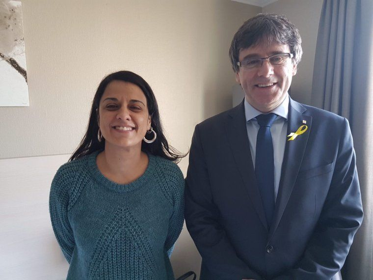 Anna Gabriel i Carles Puigdemont a Suïssa temps enrere