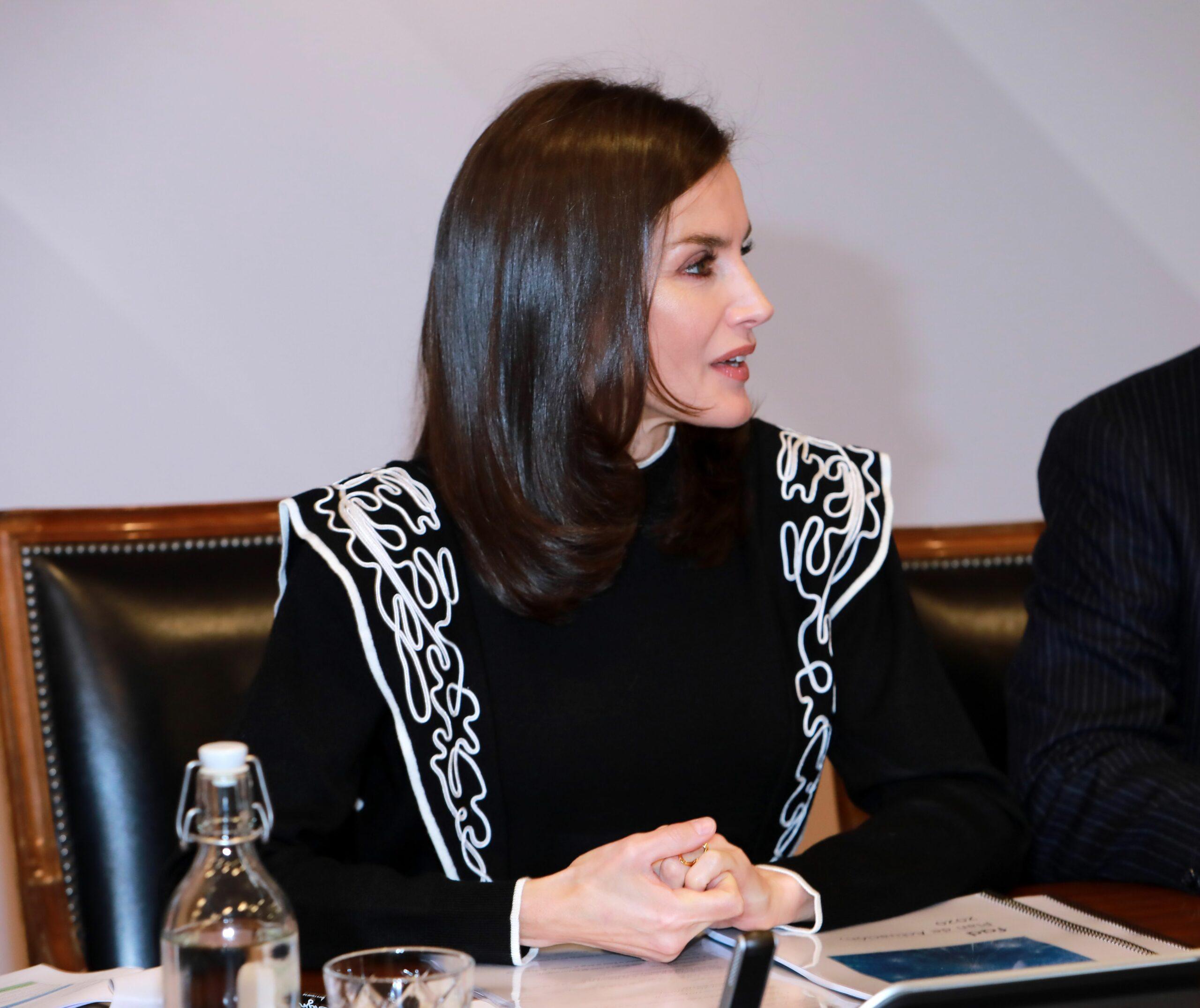 La reina Letícia presideix una reunió   Europa Press