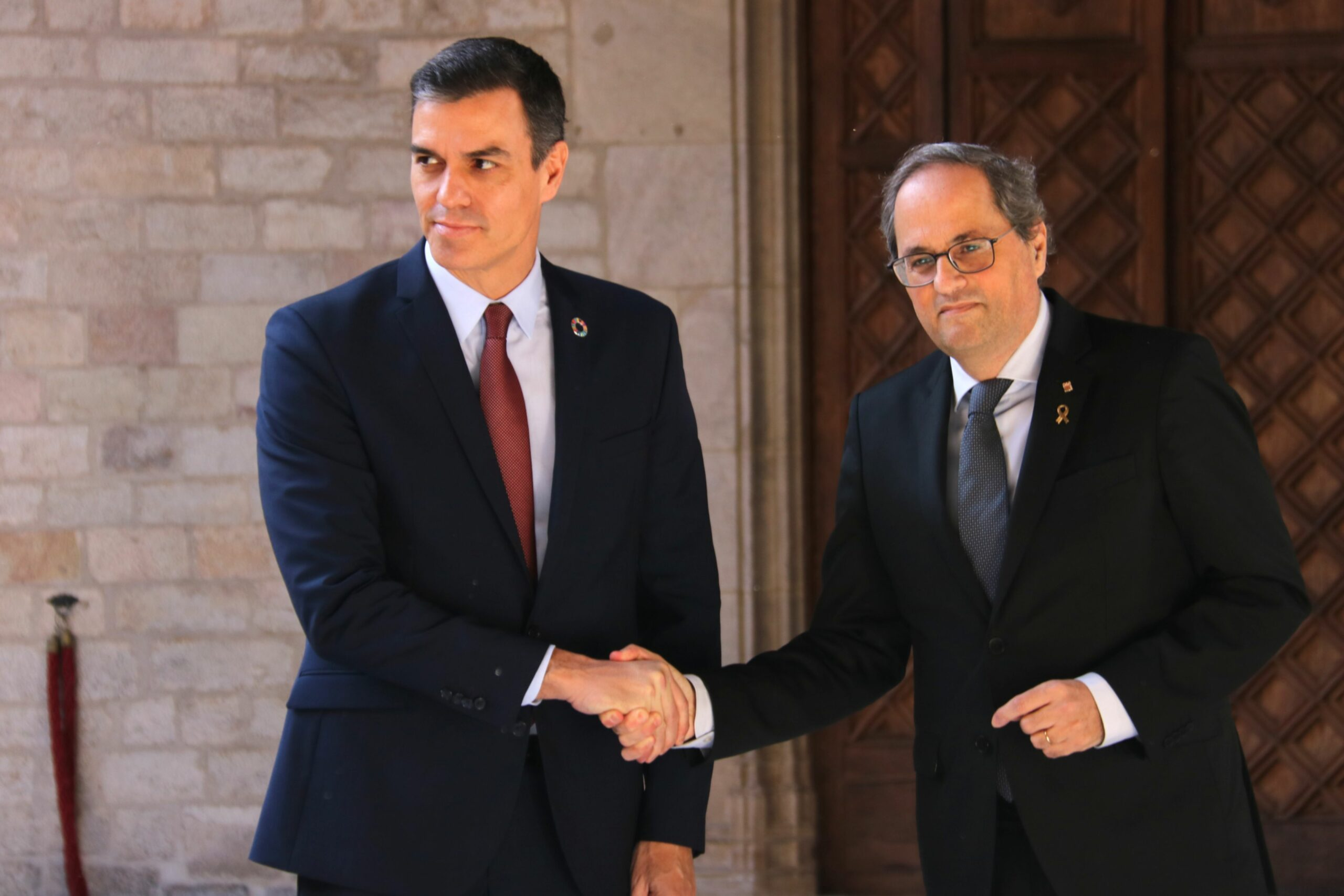 Els presidents Pedro Sánchez i Quim Torra