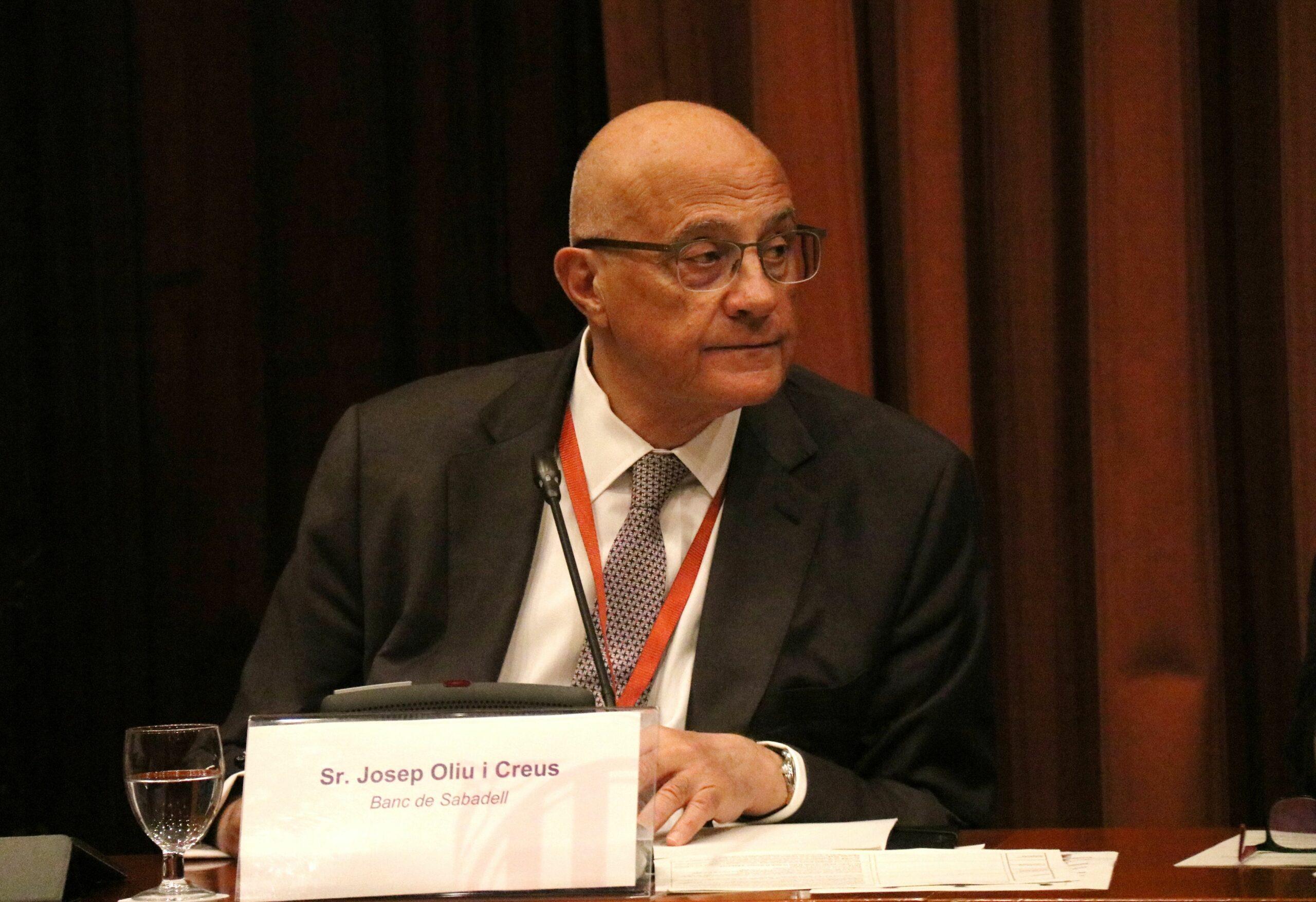 El presidentl Banc Sabadell, Josep Oliu