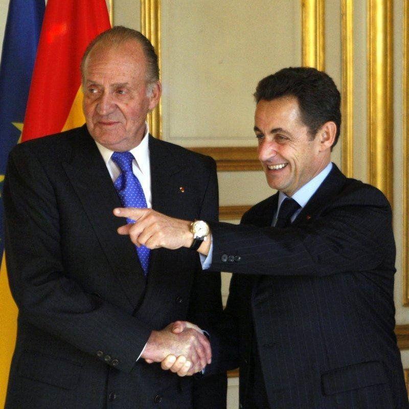 El rei Joan Carles, amb Sarkozy   Europa Press