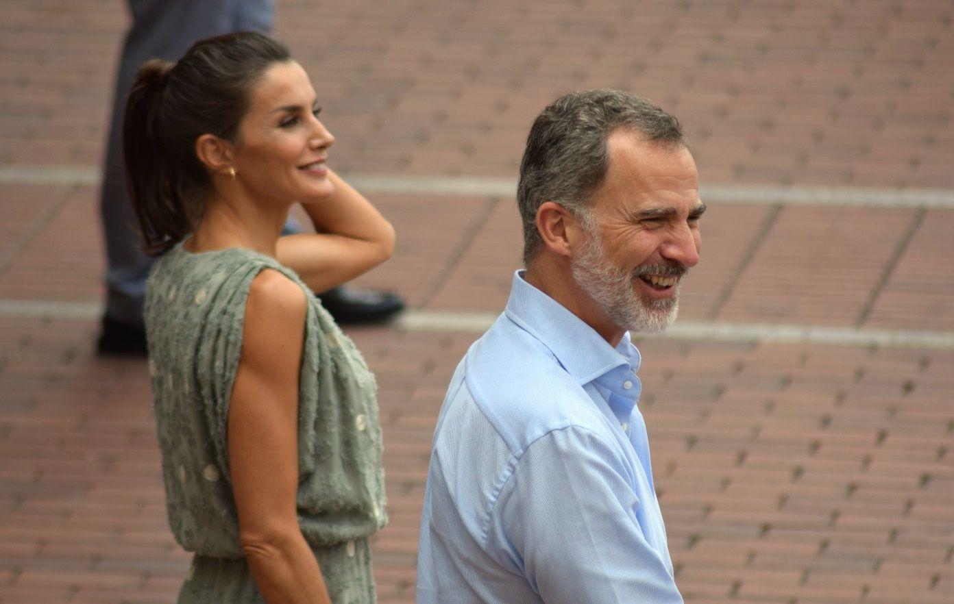 Els Reis, somrients a La Palma   Europa Press