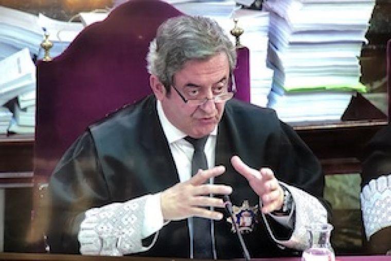 El fiscal Javier Zaragoza, durant el judici contra l'independentisme al Suprem