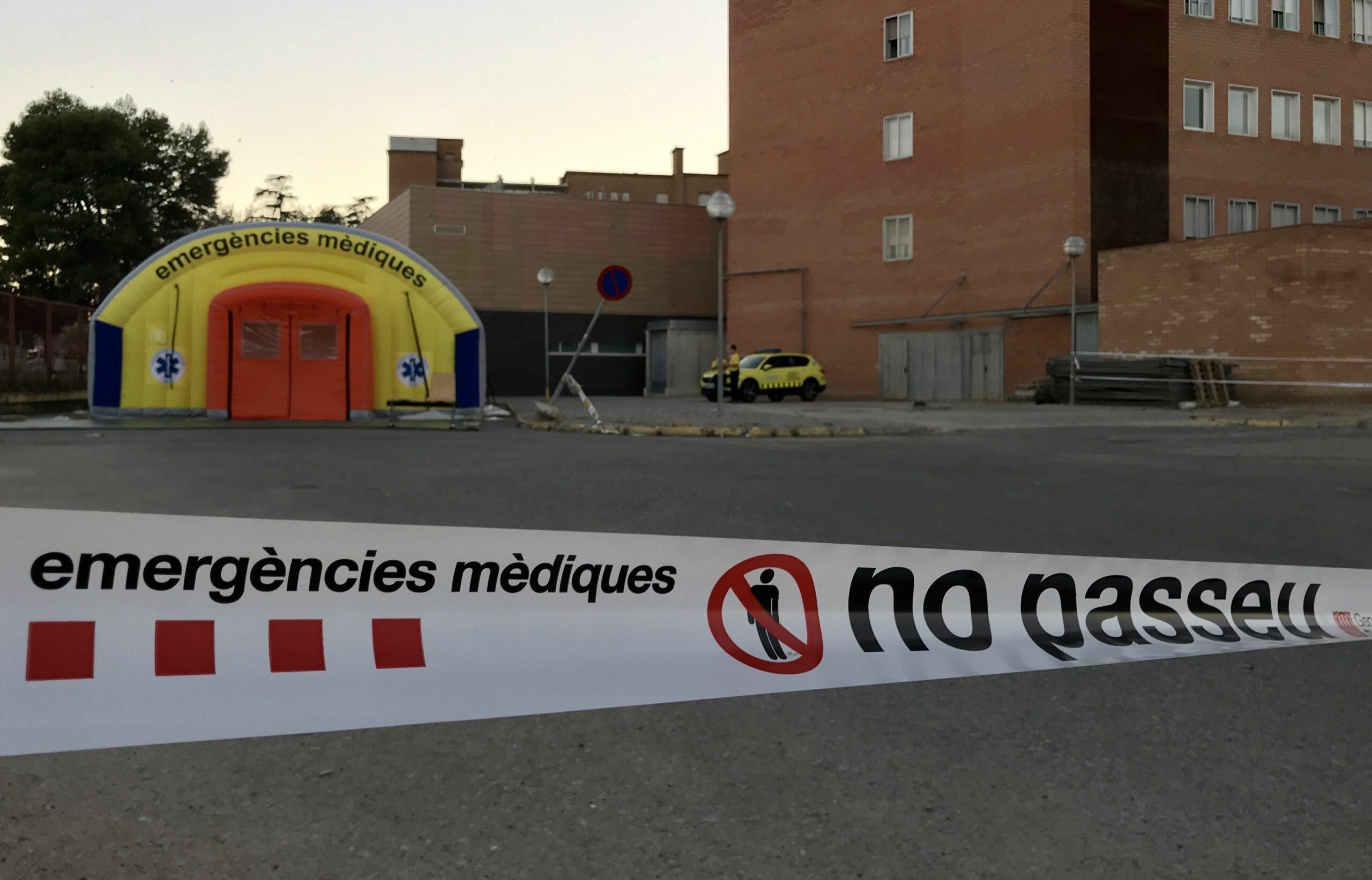 La zona perimetral de l'Arnau de Vilanova on el SEM ha muntat una carpa d'atenci? m?dica