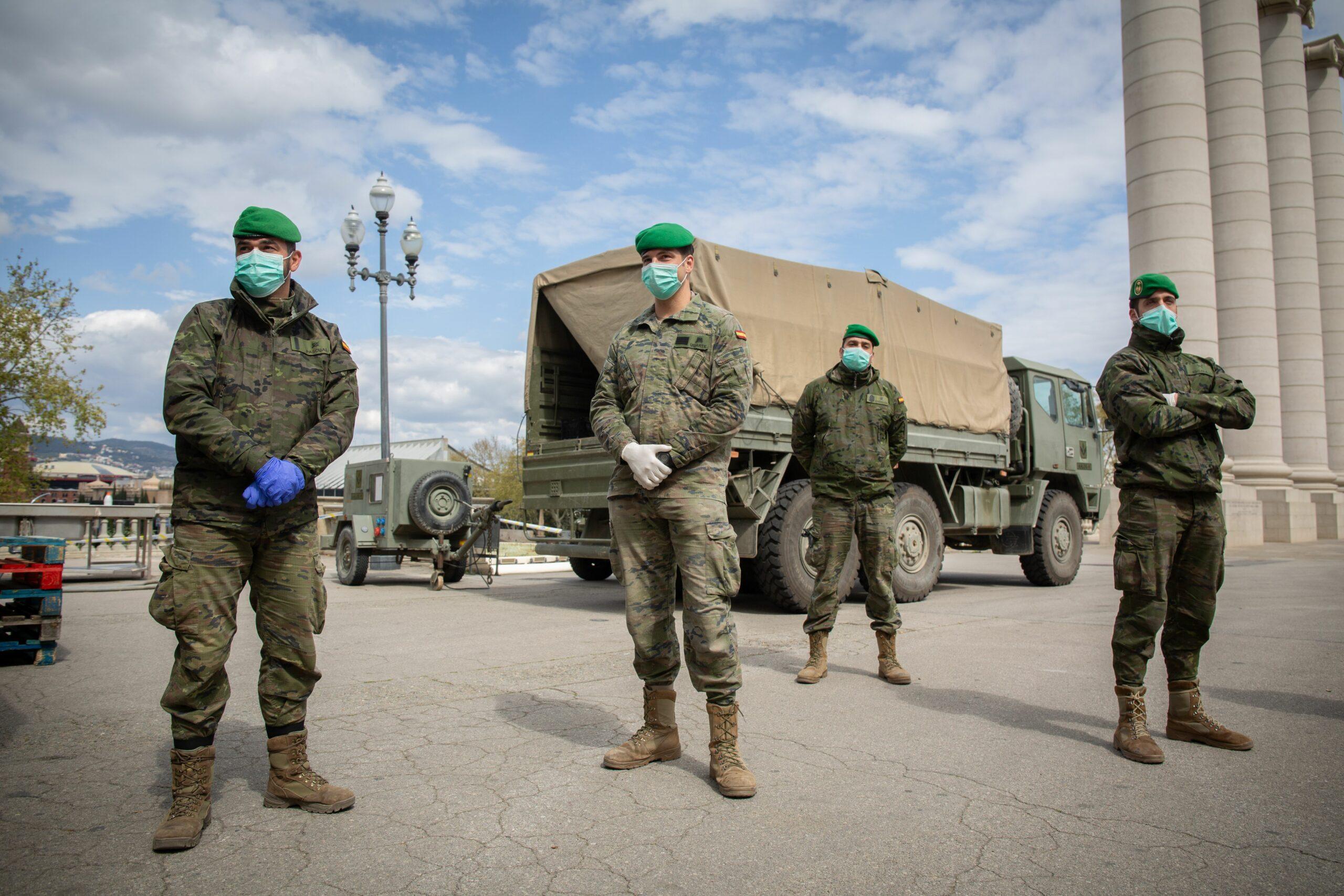 Militars desplegats a Montju?c pel coronavirus (EP)