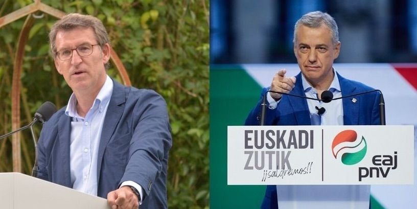Feijoo i Urkullu, en els actes finals de campanya/EP