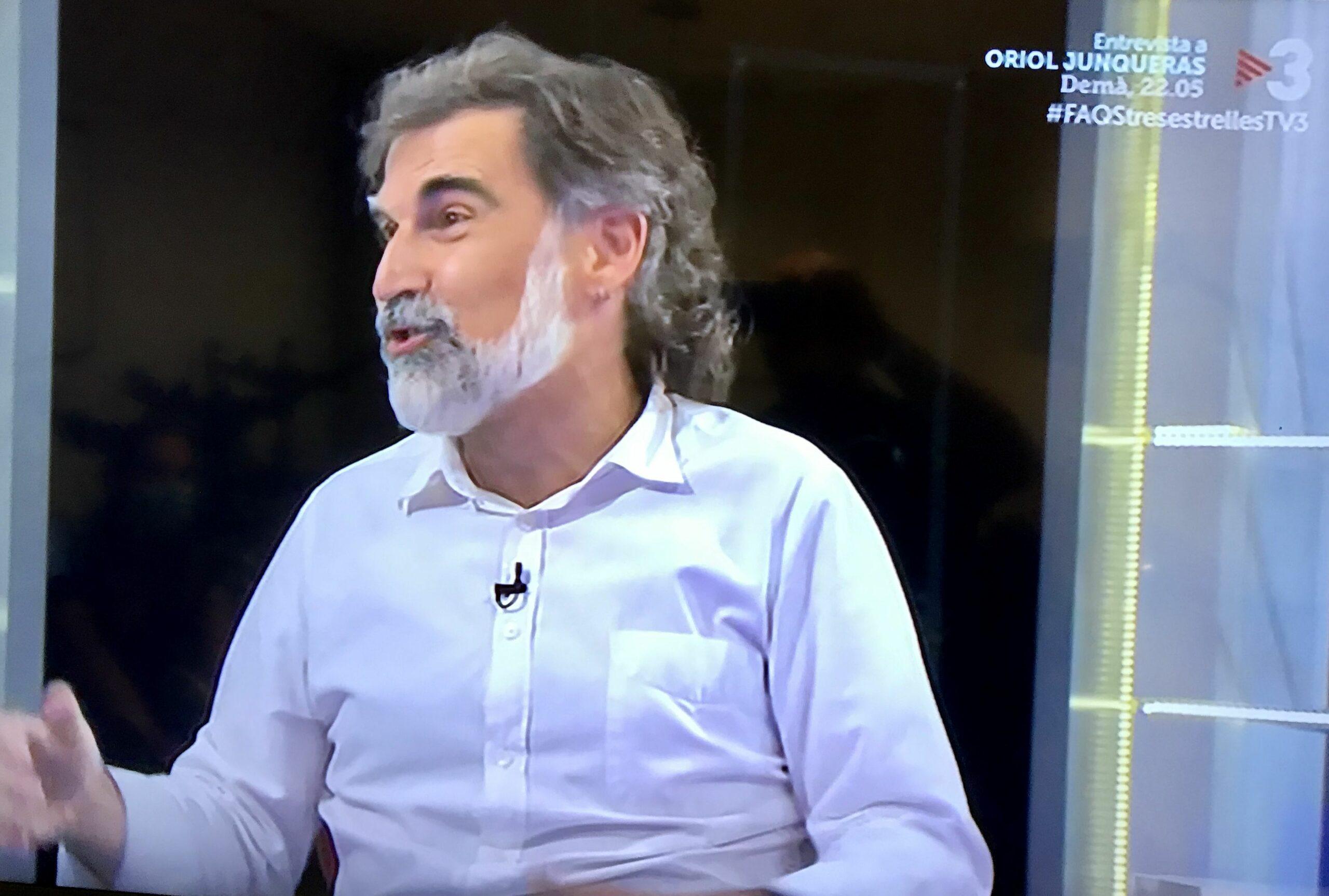 Jordi Cuixart, en un moment de l'entrevista al FAQS/TV3