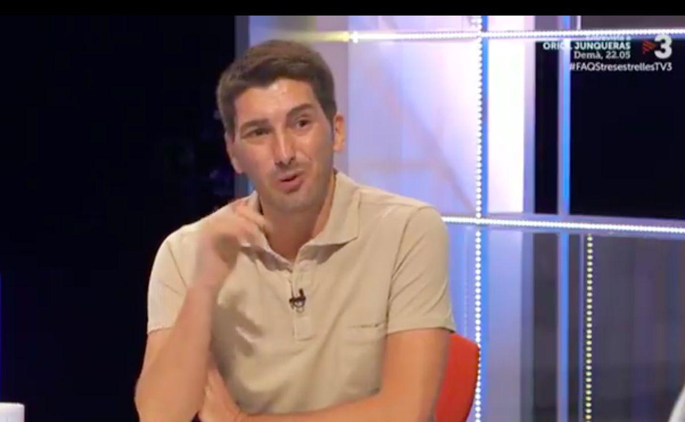 Oriol Mitjà, en un moment de l'entrevista al Faqs