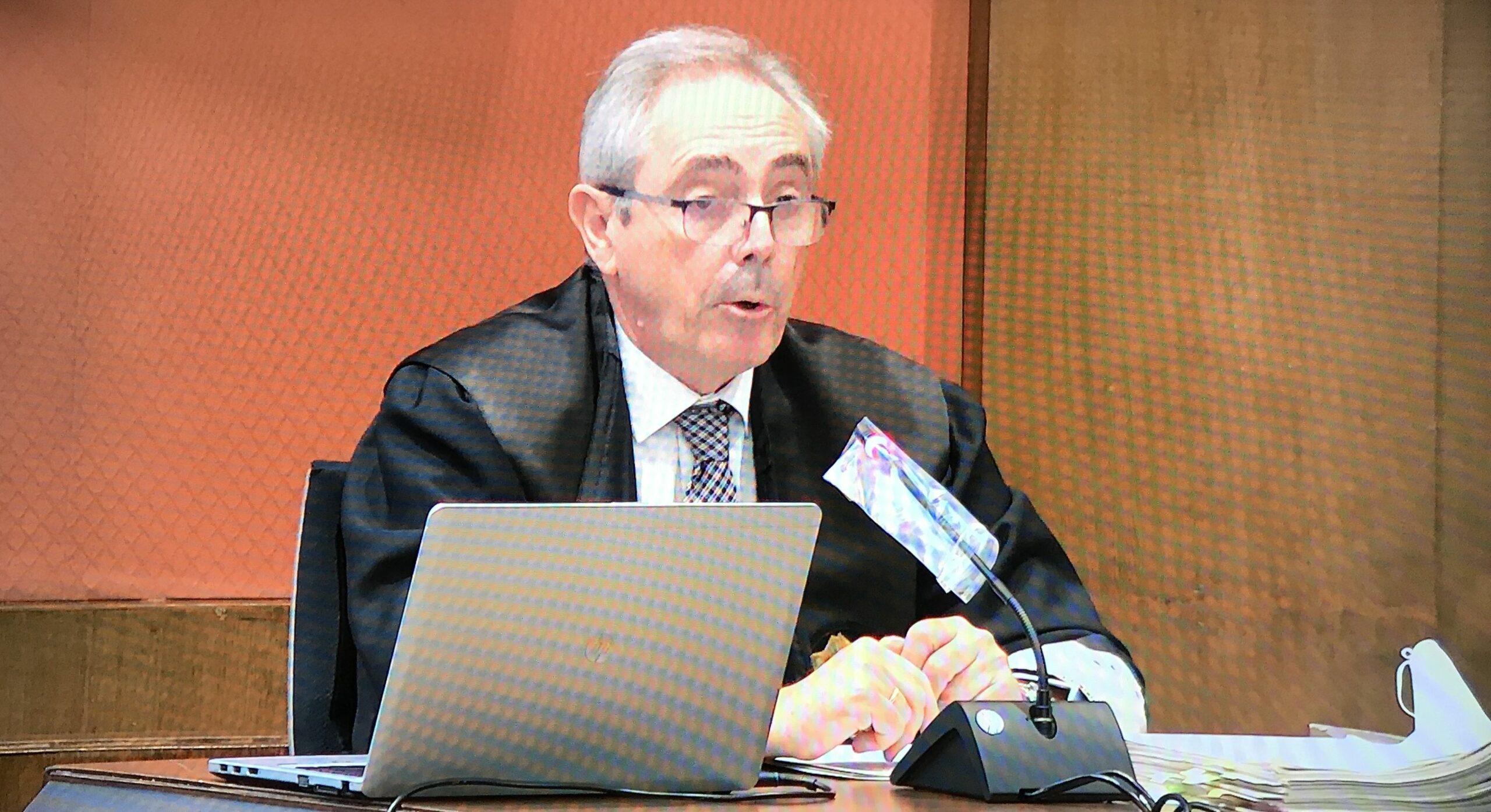 El fiscal Ariche, en un moment de la seva intervenci? defensant que no ?s un judici pol?tic