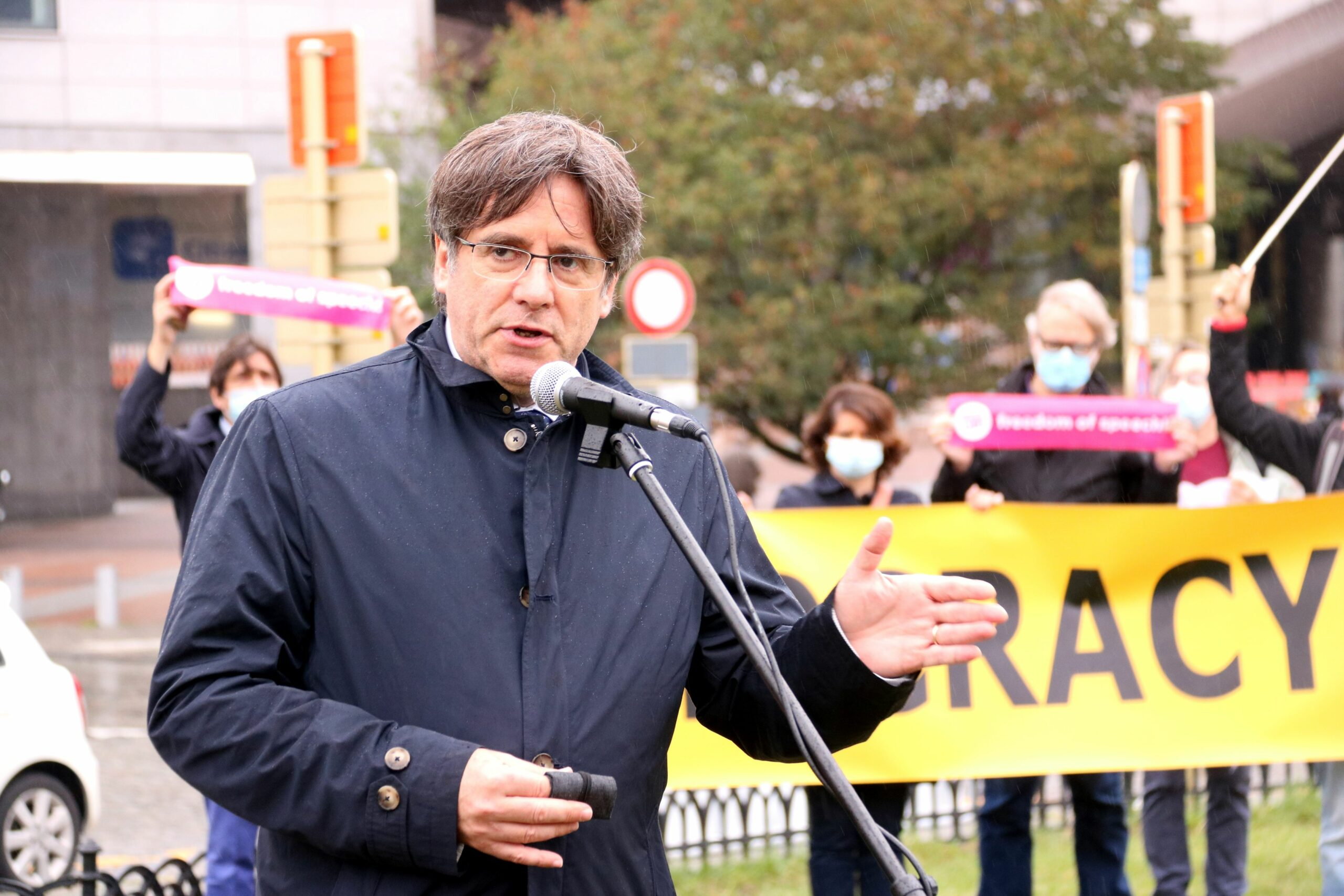 El president Carles Puigdemont l'1 d'octubre de 2020