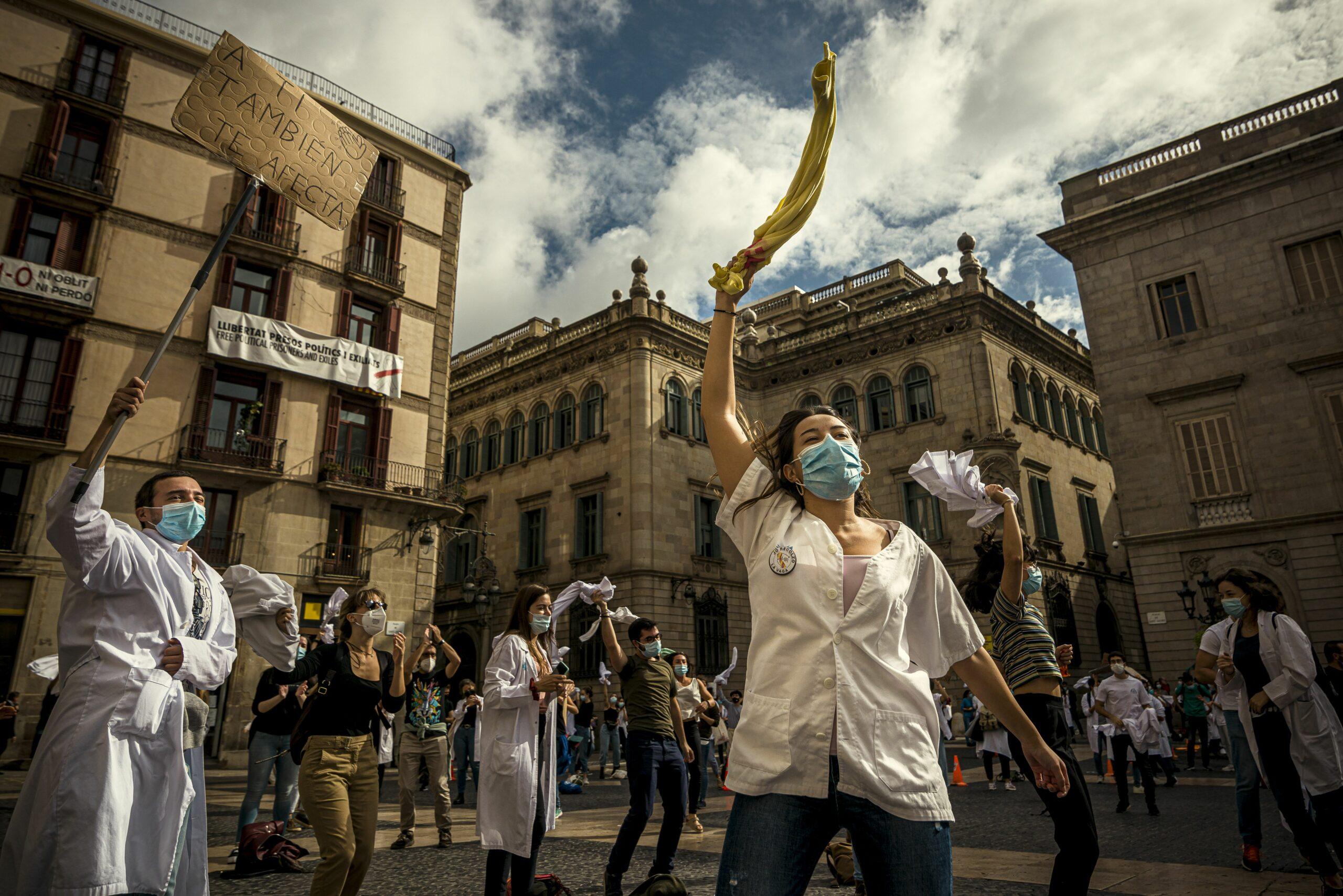 Una protesta de metges MIR a Barcelona / EP