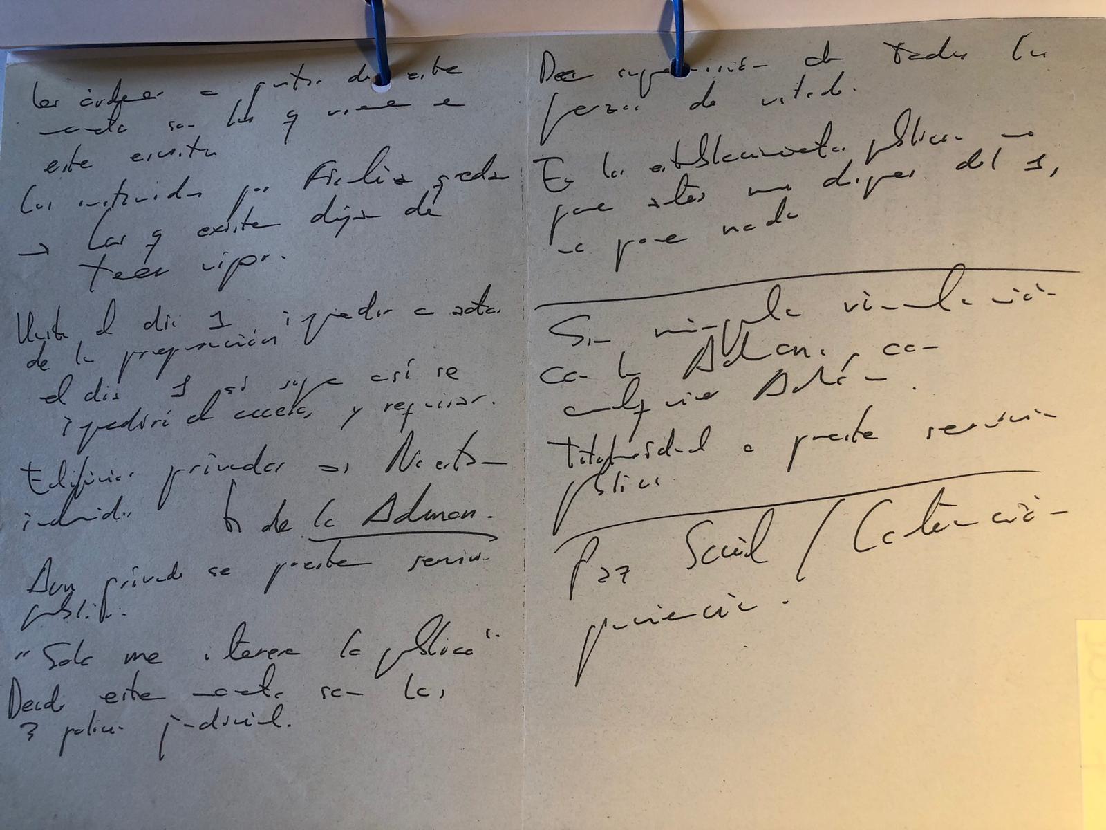 El manuscrit de Trapero que es va incorporar a darrera hora al sumari del cas