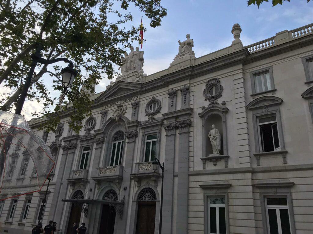 Façana del Tribunal Suprem, a Madrid