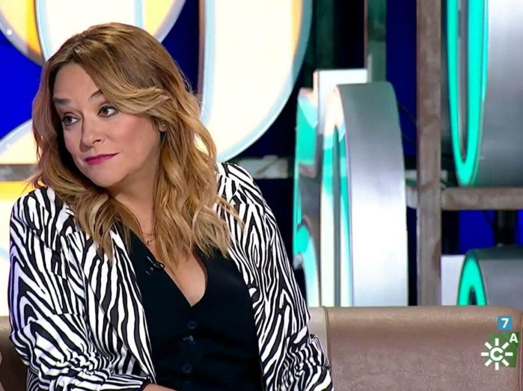 Toñi Moreno, en directe en el seu programa de Canal Sur