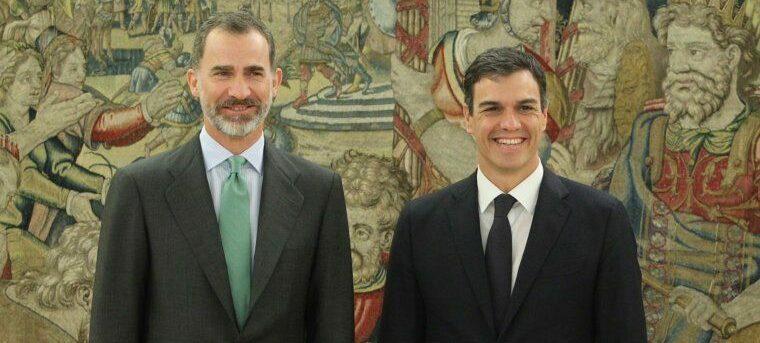 El rei Felip VI i el president espanyol, Pedro Sánchez