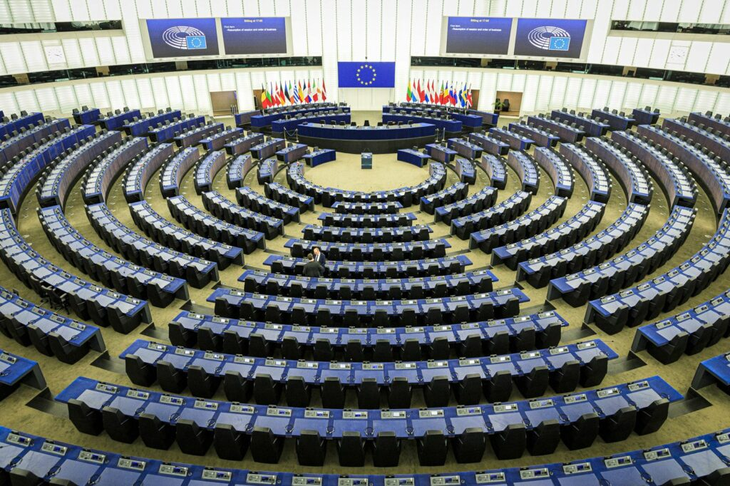 Primer ple de Puigdemont i Comín al Parlament Europeu