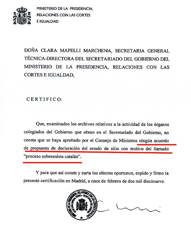 Un dels documents confidencials
