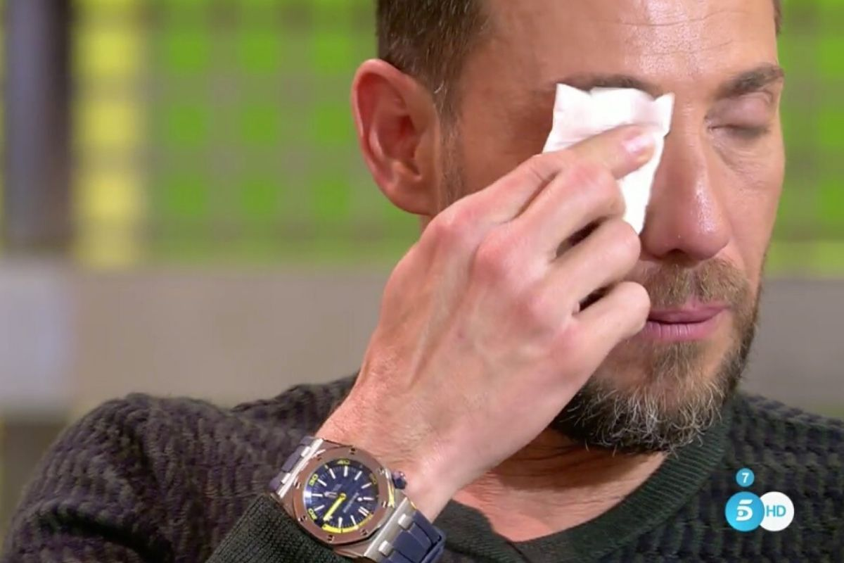 Antonio David plora a 'Sálvame'   Telecinco