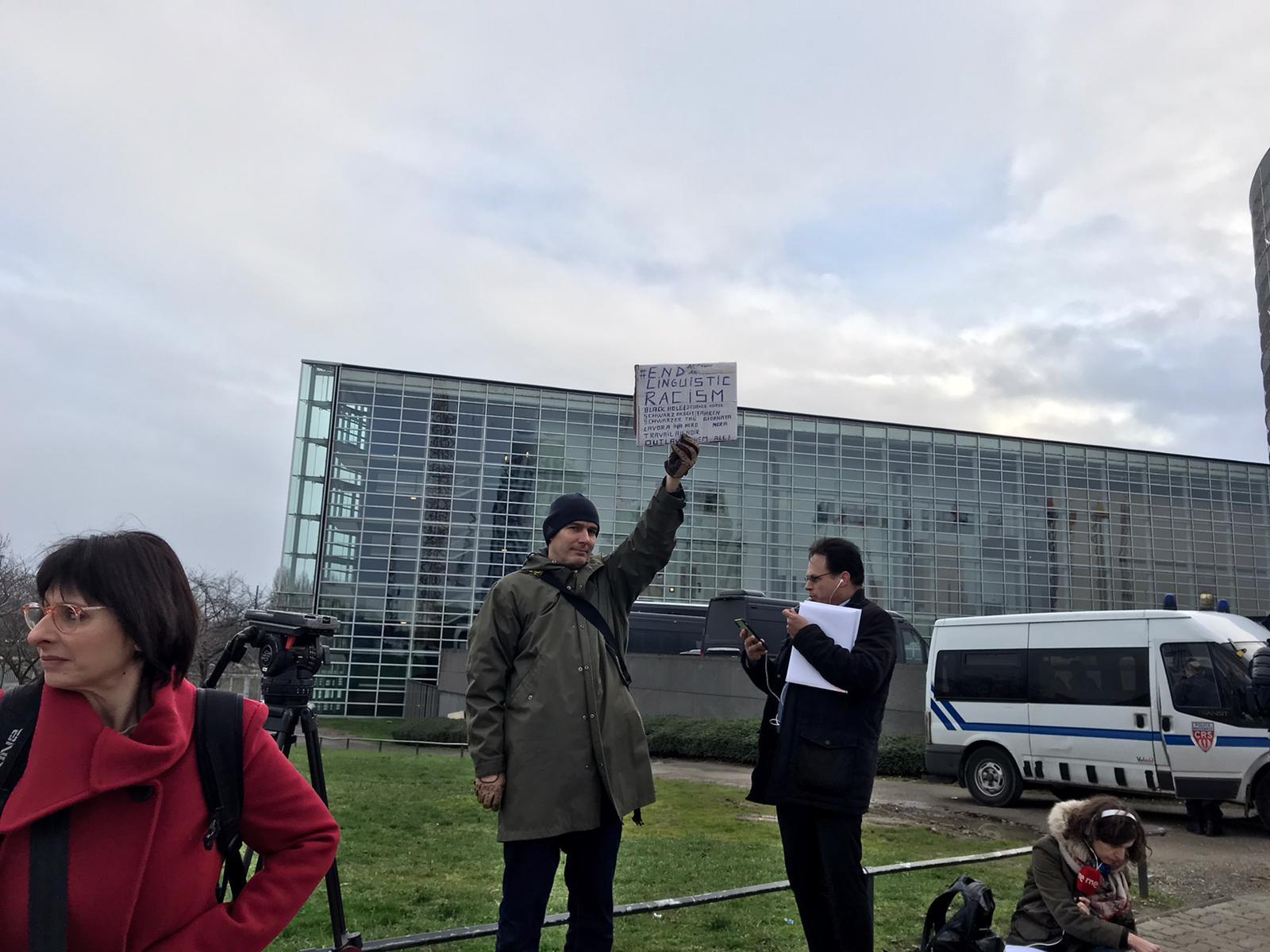Meylan el 12 de gener a Estrasburg, quan Puigdemont va anar al Parlament Europeu (Quico Sallés)