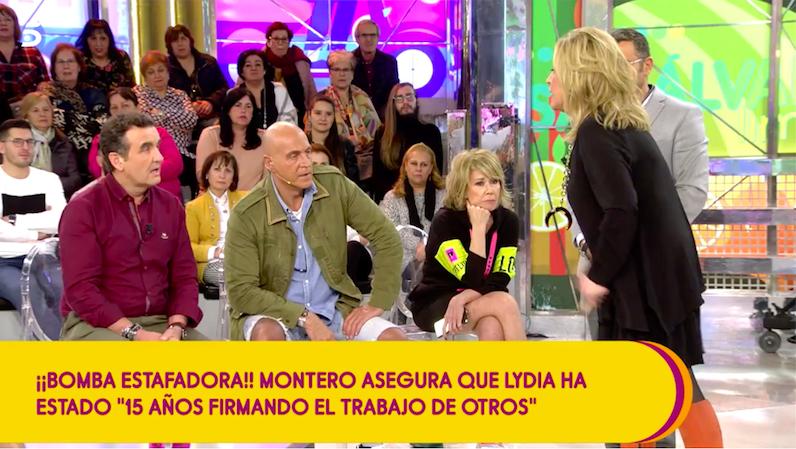 Lydia Lozano s'enfronta a Antonio Montero   Telecinco