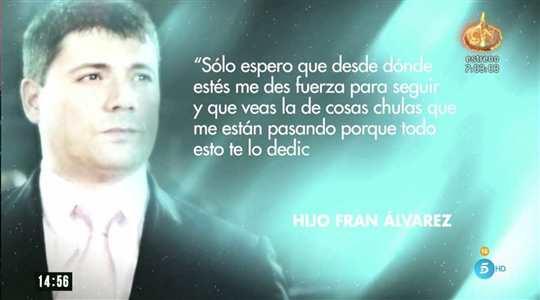Carta del fill de Fran Álvarez   Telecinco