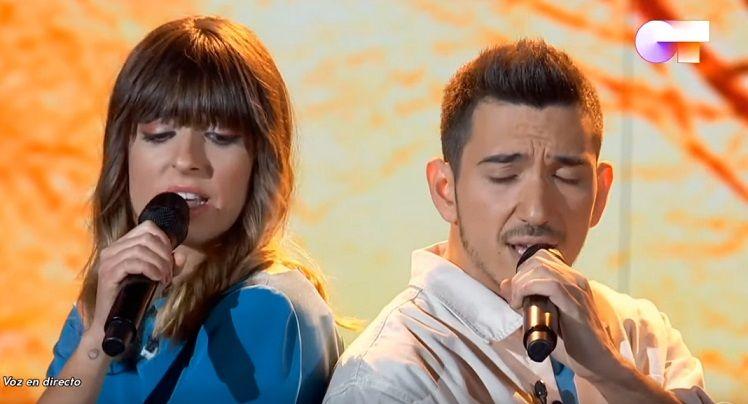 Maialen i Bruno a 'OT'.  TVE