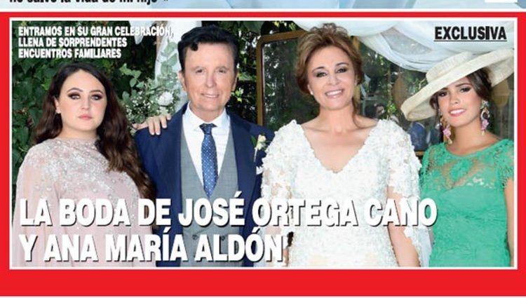 La boda d'Ortega Cano i Ana María, a la portada de la revista '¡Hola!'