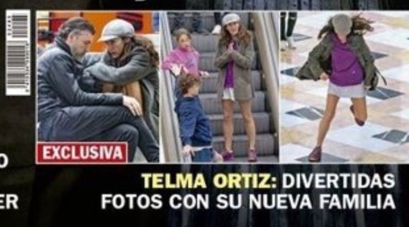 Telma Ortiz, amb la família a la portada de 'Pronto'