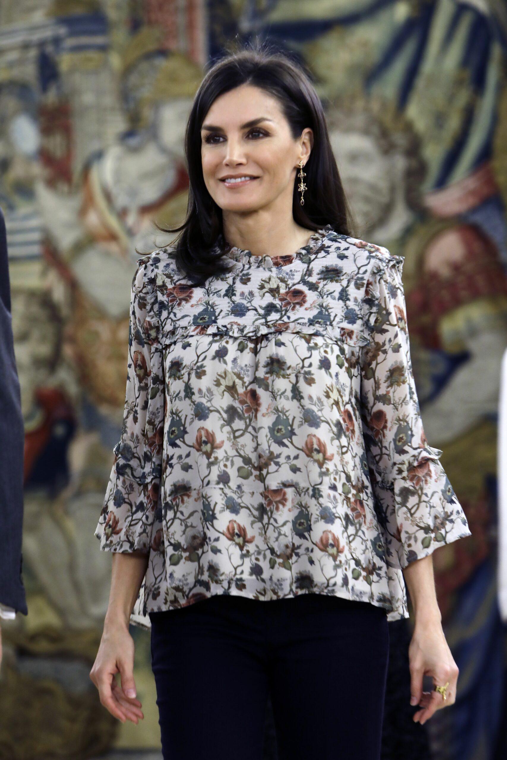 La reina Letícia, en una audiència oficial   Europa Press