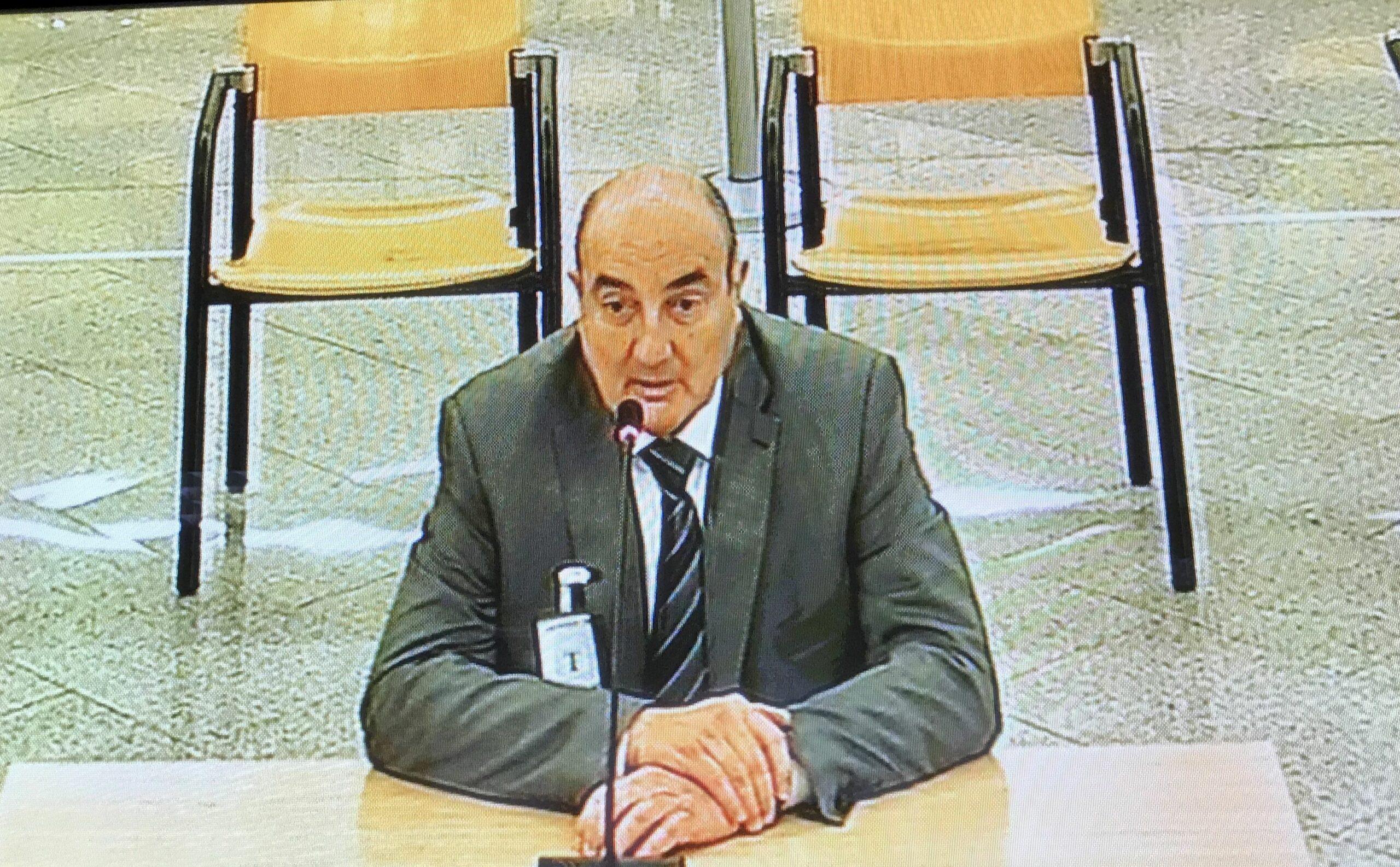 Mariano Martínez, en un moment de la seva declaració