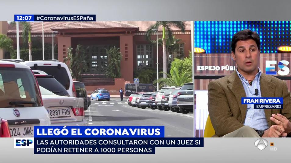 Fran Rivera parla sobre el coronavirus   Antena 3
