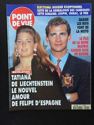 Tatiana de Liechtenstein i el rei Felip